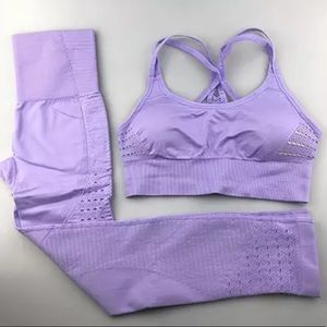 Lilac Energy Seamless Compression Activewear Set